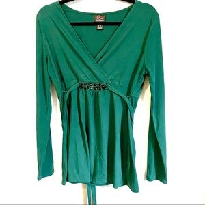 MATERNITY Emerald green Oh Baby top